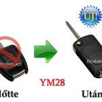 2 gombos távirányítós kulcshoz bicskakulcs átalakító – OPBA205